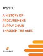 A History of Procurement: Supply Chain through the Ages