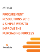 Procurement Resolutions 2016: 4 Simple Ways to Improve the Purchasing Process