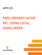 Procurement in the NFL: Going Local, Going Green