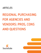 Regional Purchasing for Agencies and Vendors: Pros, Cons and Questions