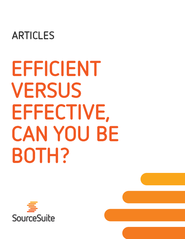 Efficient versus Effective Purchasing Article