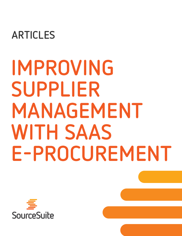 Improving Supplier Management with SaaS E-Procurement