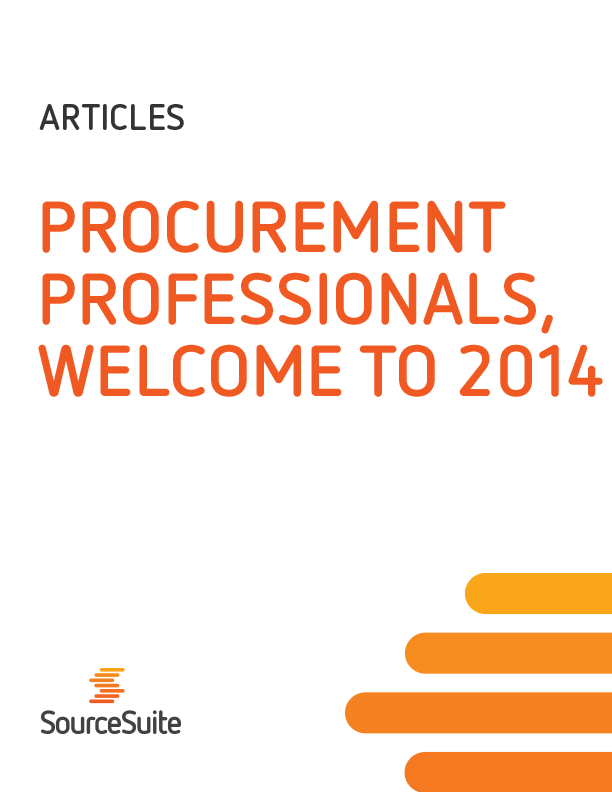 Procurement Professionals, Welcome to 2014