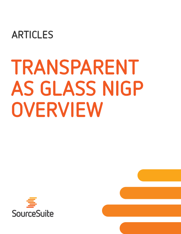 Transparent as Glass NIGP 2013 Panel Article