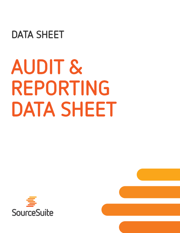 Audit & Reporting Data Sheet
