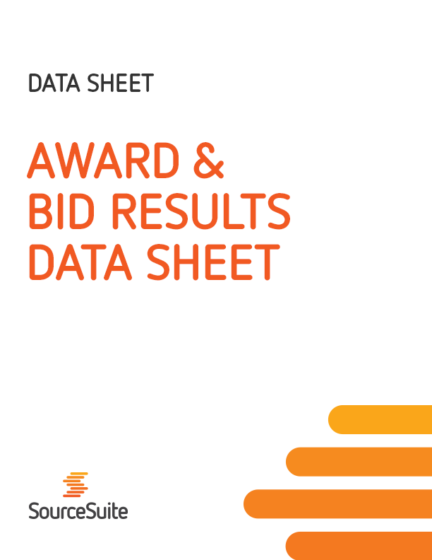 Award & Bid Results Data Sheet