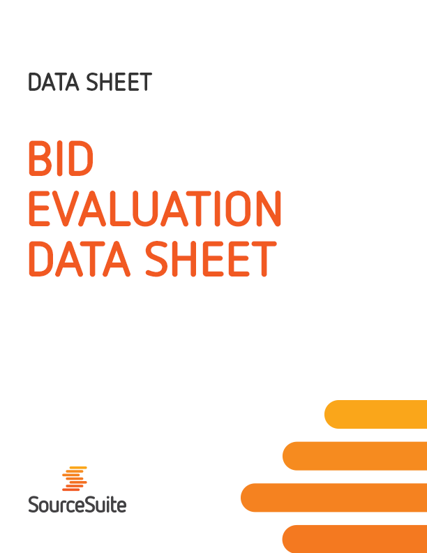 Bid Evaluation Data Sheet
