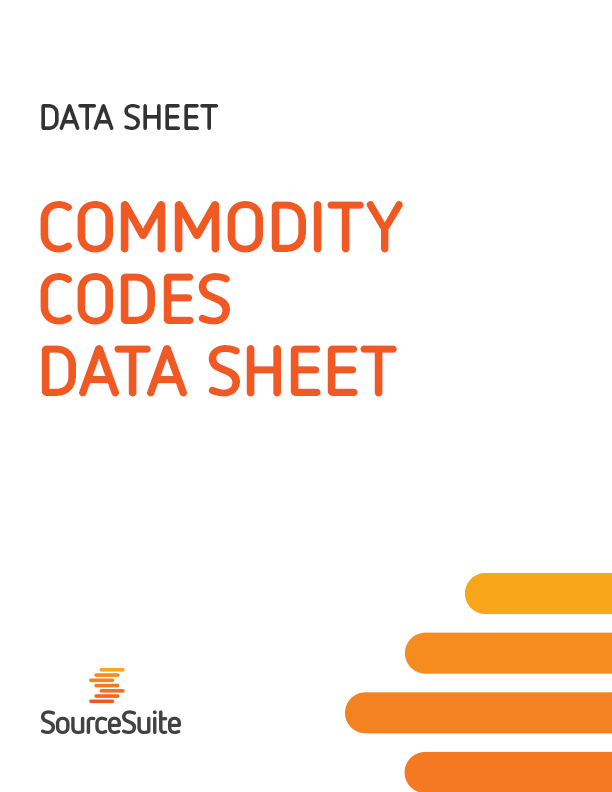 Commodity Codes Data Sheet