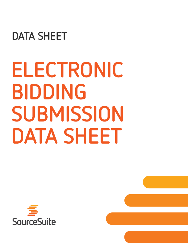 Electronic Bidding Submission Data Sheet