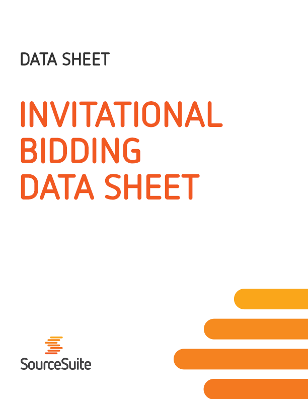 Invitational Bidding Data Sheet