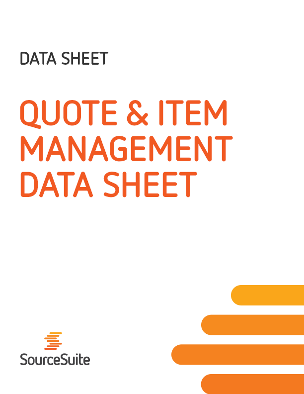Quote & Item Management Data Sheet