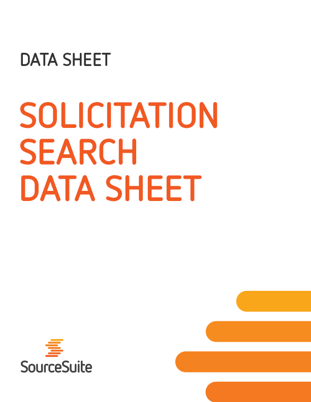 Solicitation Search Data Sheet