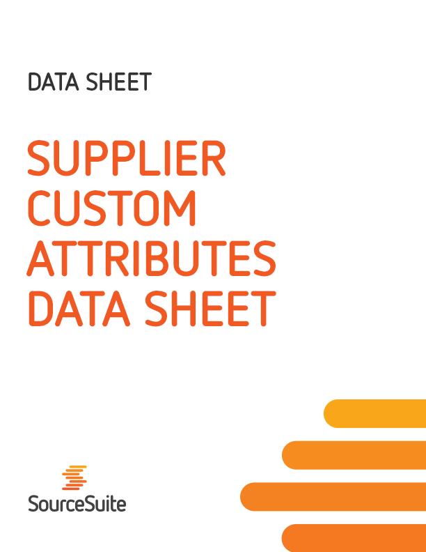 Supplier Custom Attributes Data Sheet