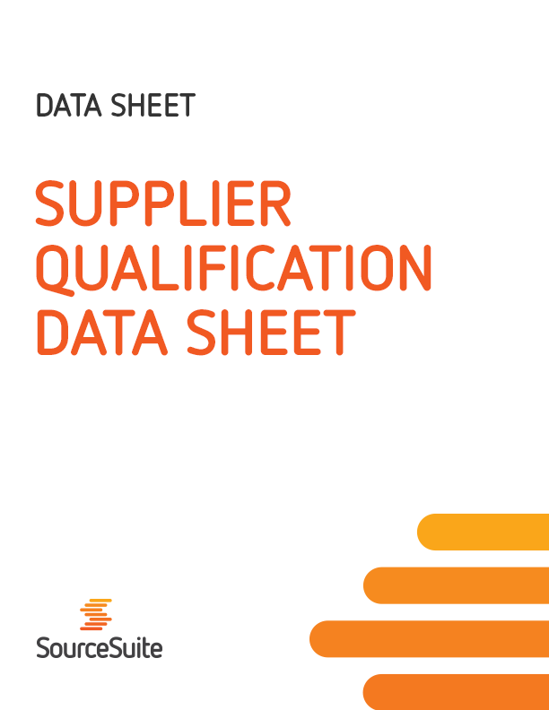 Supplier Qualification Data Sheet