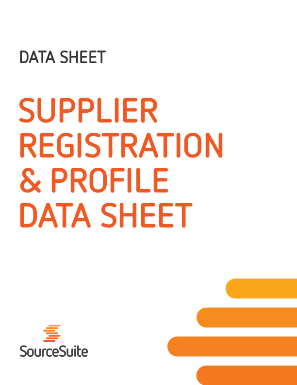 Supplier Registration & Profile Data Sheet