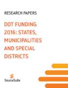 DOT FUNDING 2016: STATES, MUNICIPALITIES AND SPECIAL DISTRICTS
